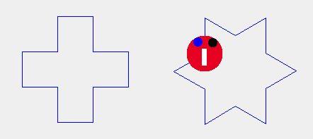 六芒星と中抜き十字